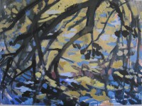 Branches and waters, 80 x 50, oil, 2012