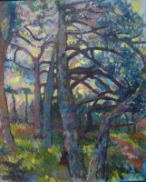 Pines and fears, 70 x 110, oil, 2012