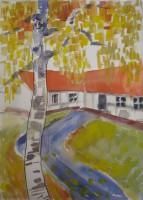 Birch, watercolour, 30 x 40,