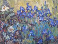 Blue iris, 80 x 60, 2011