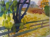 Yellow autumn 2, watercolour, 27 x 20