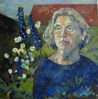 Jeanne, oil, 50 x 50