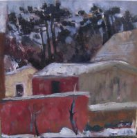 Neighbors, 53 x 43, Carton, 2012