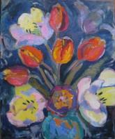 last Tulips, oil, 40 x 50