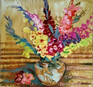 Summer Joys, oil on canvas 100 x 100
