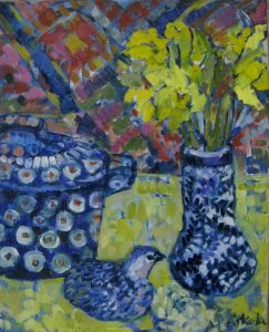 The old vase, 30 x 40, oil on cardboard, 2016