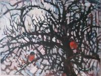 Tree and birds, 80 x 60, oil, 2012