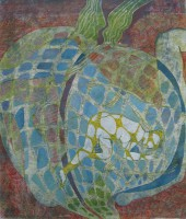 The heart of an onion, monotype, 50 x 70