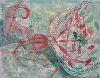 Mammal, 70 x 50, monotype, crayons