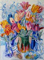 "Tulip feaver"" (oil on canvas, 2018, 90 x 120 )"