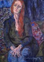 Melancholy, oil, 80 x 100.