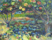 Apple garden, 140 x 100, oil, 2010