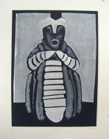 caterpillar people, monotype, 45 x 70