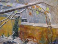 Fig tree in the snow, 80 x 60, oil on canvas
