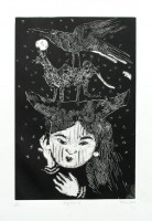 girls dream, monotype, 38 x 60