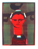 inuit, monotype with 4 colours, 50 x 70