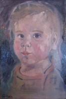 Little brave girl, oil, 29 x 35