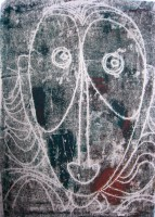 surprised, monotype negative, 50 x 70