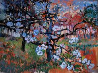 White nights and appleblossom, 90 x 110, oil on canvas, 2016