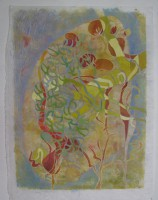 Green lungs, 50 x 70, monotype and watercolour,