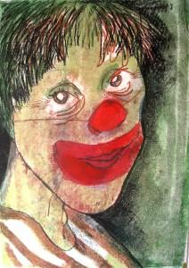 Clown, A3, 2001, monotype