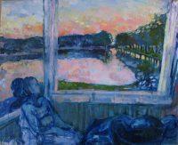 White night lakes, 120 x 98