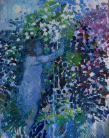 White nights wanderer, 60 x 75, oil