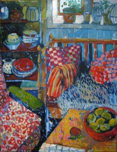 kitchencorner, 90 x 110, oil on canvas, 2015