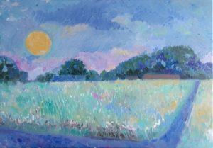 Midsummer moon ( oil on canvas, 2018, 70 x 50)