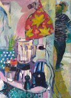 Evas køkkenhylde, 70 x 50, olie på lærred, 2019