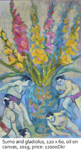 Sumo-and-gladiolus